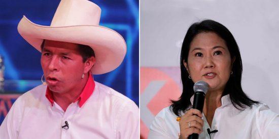 Elecciones en Perú: Pedro Castillo y Keiko Fujimori disputarán la presidencia en segunda vuelta
