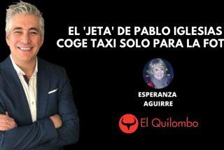 El Quilombo: El 'jeta' de Pablo Iglesias se subió al taxi para la foto ¡en el parking de Telemadrid!