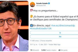 """'Estudio Estadio' (TVE) 'supera' a TV3: """"¿Es bueno para el fútbol español que siga en Europa el Real Madrid?"""""""