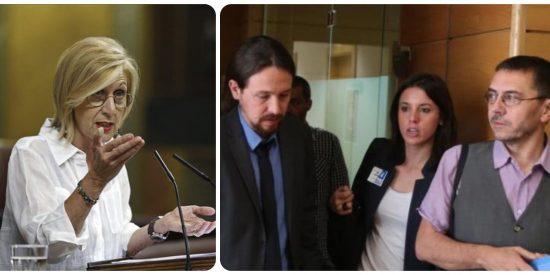 Rosa Díez acorrala a Irene Montero y le insta a hablar del 'acoso sexual' de Iglesias y Monedero a una alumna