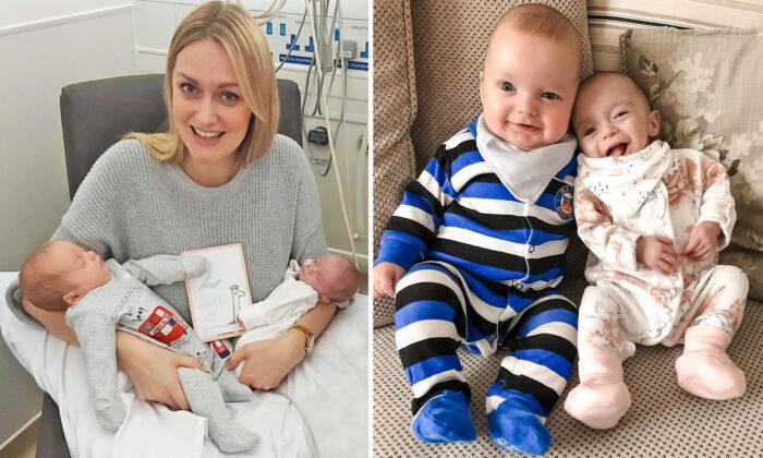 Rebecca quedó embarazada estando ya embarazada y da a luz a gemelos concebidos con 3 semanas de diferencia