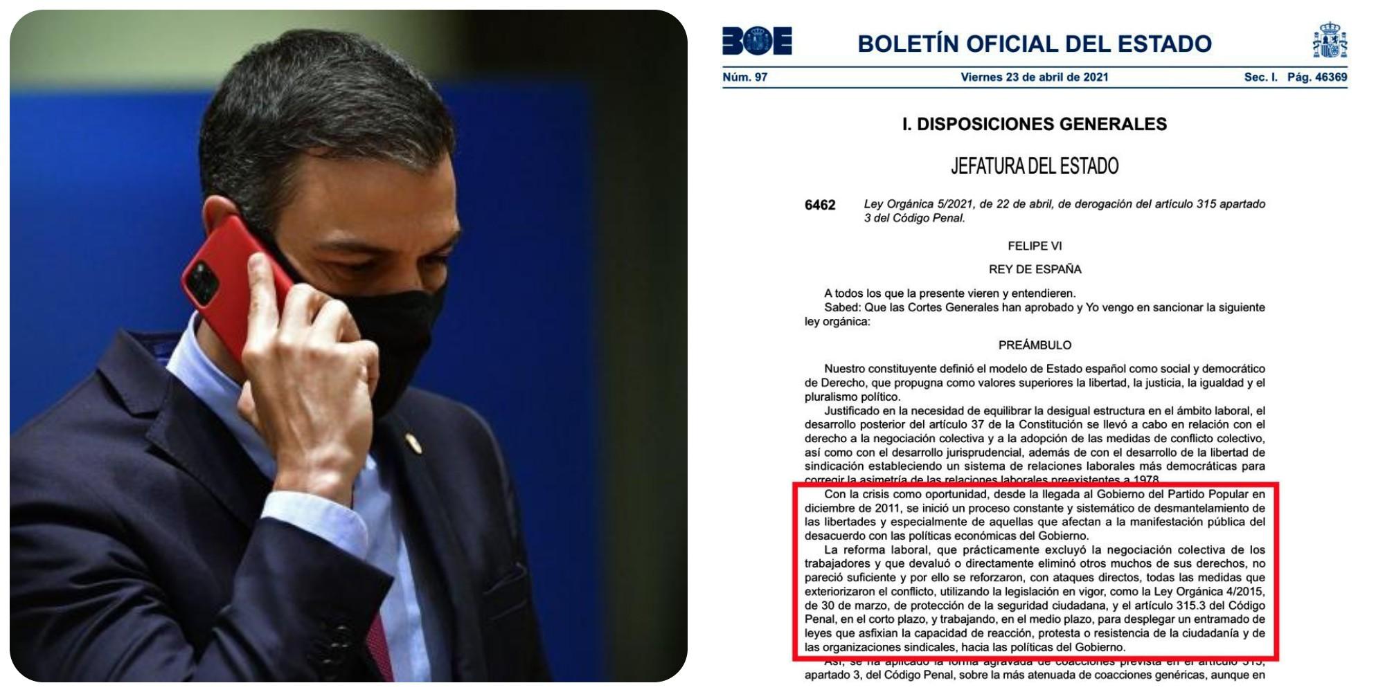 El Gobierno Sánchez usa hasta el BOE para atacar al Partido Popular