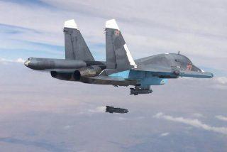 Siria: pilotos de guerra rusos pulverizan una base secreta de los terrorista islámicos