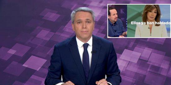 El sonoro 'bofetón' de Vicente Vallés al señalador de periodistas Pablo Iglesias