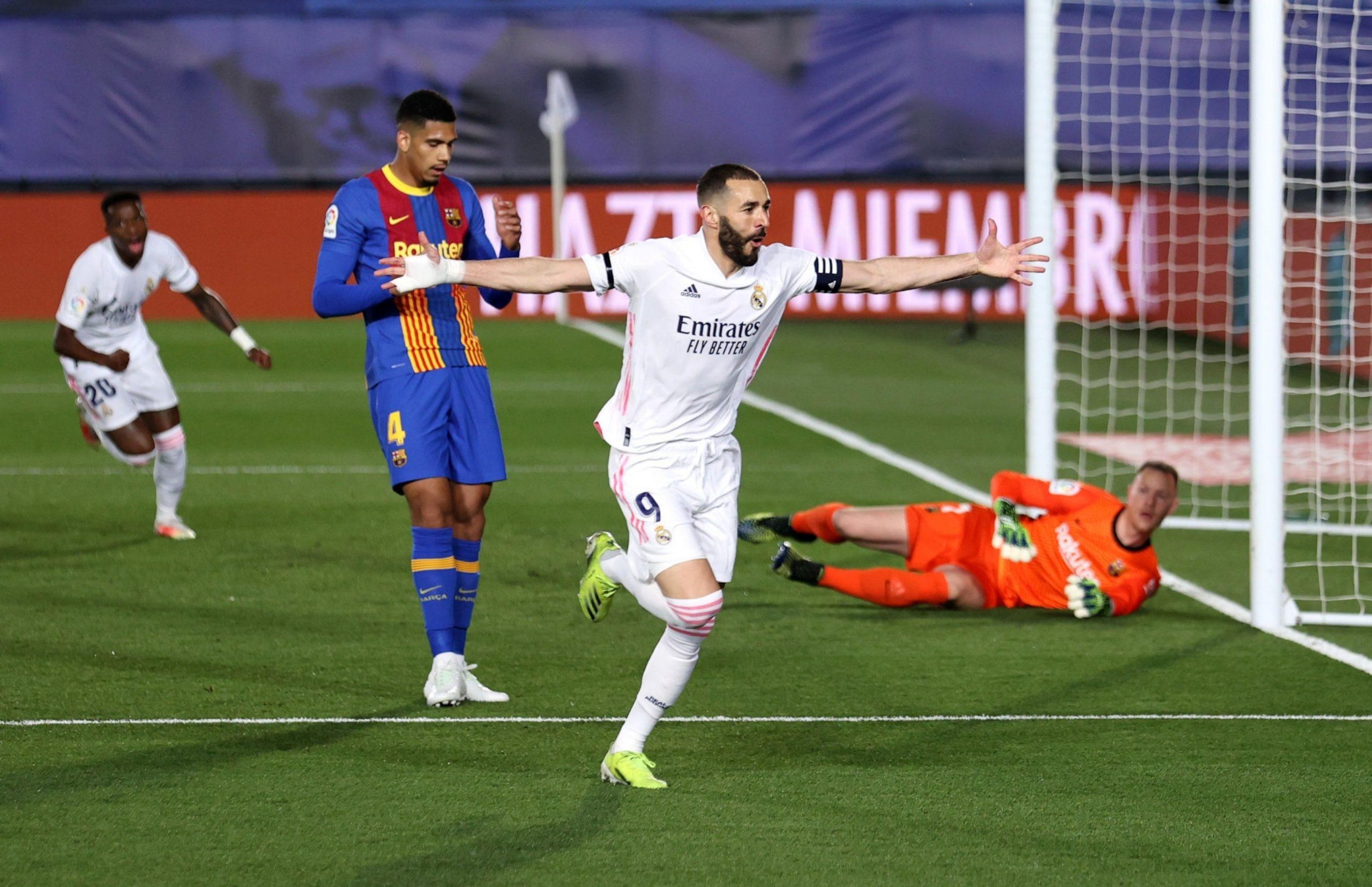 El Real Madrid gana el clásico al Barça (2-1) y se pone líder de la Liga