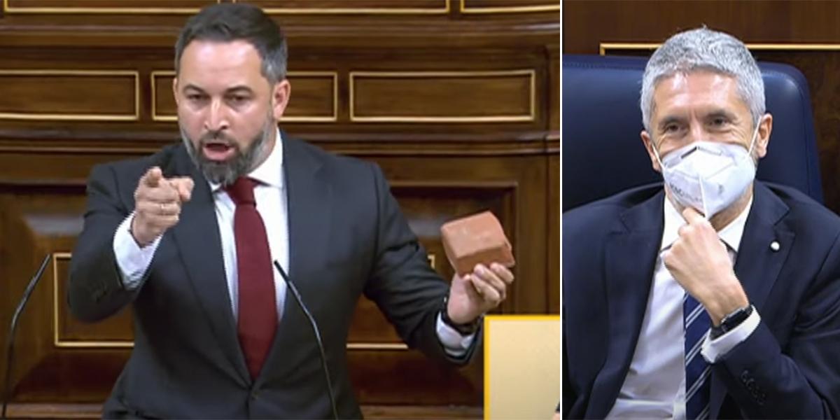 """Abascal pasa la factura de Vallecas a Marlaska y al comunista Enrique Santiago: """"¡Sinvergüenza y peligroso!"""""""