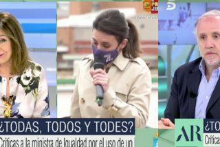 """Ana Rosa e Inda se cachondean de Irene Montero a lo grande: """"Esto es de gilipollas, gilipollos o gilipolles"""""""
