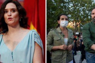 """Ayuso apoya a VOX: """"Madrid es de todos, la extrema izquierda se derrumba en los barrios que se creían 'suyos'"""""""