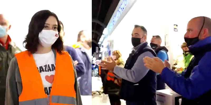 No lo verás en TVE, laSexta o Telemadrid: Díaz Ayuso, ovacionada por los trabajadores de Mercamadrid