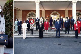 Penoso estreno de la ministra Belarra: no le quita la etiqueta a los zapatos y sin saludo con Margarita Robles