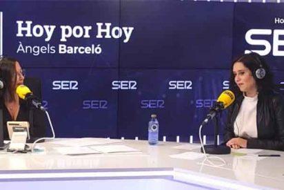 Los podemitas, que jalearon el 'masaje' de la novia de Cintora a Iglesias, atacan a Barceló por no apretar a Ayuso