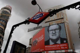 Un premonitorio efecto visual en un cartel de Gabilondo se hace viral y enfurece a la izquierda