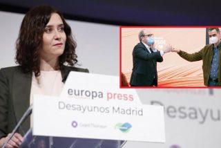 """El órdago de Ayuso: """"Le digo una cosa a Pedro Sánchez, mirándole a los ojos: el 4 de mayo nos vemos en las urnas"""""""