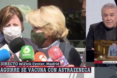 """Enganchada entre Esperanza Aguirre y García Ferreras: """"Dile que me coja el teléfono"""""""