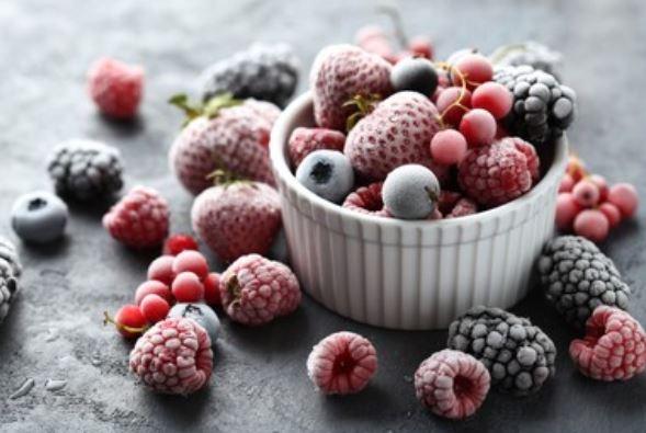 fruta congelada, (frutas del bosque)