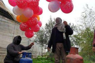 Lanzan globos explosivos contra Israel desde la Franja de Gaza