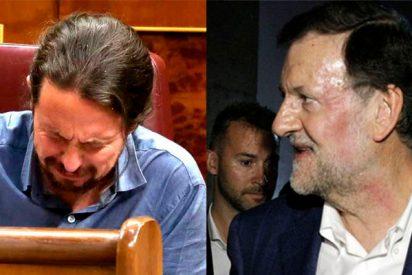 La hemeroteca azota hasta sangrar al llorón Iglesias: Así minimizaba con Wyoming la agresión a Rajoy en 2015