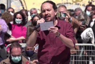 "Pablo Iglesias llama ""sinvergüenza"" a Jiménez Losantos en un mitin"