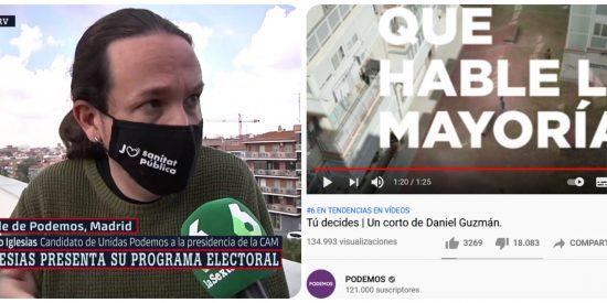 El vídeo de campaña de Unidas Podemos propina a Pablo Iglesias su segundo revolcón de cara al 4-M