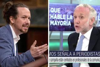 """Pablo Iglesias, en caída libre, anuncia """"acciones legales"""" contra Inda por llamarle """"gentuza y chusma"""" en Telecinco"""