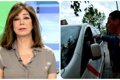 """Ana Rosa se cachondea del paripé de Iglesias con el taxi 'fake' del debate: """"El taximetro marcó cero euros"""""""