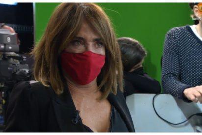 """El ataque de ansiedad de María Patiño en 'Sálvame' que ha asustado a la audiencia: """"Os he fallado"""""""