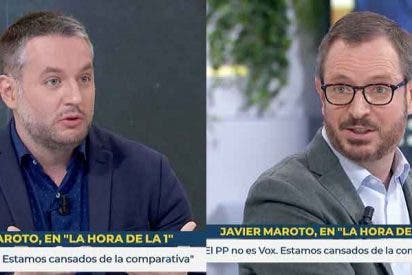 "Javier Maroto (PP) frena al 'sanchista' Daniel Basteiro (infoLibre): ""No me reescriba mi respuesta"""