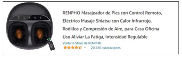 Masajeadores de pies eléctricos más vendidos en Amazon