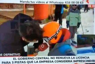 """La rabia de un niño contra el Gobierno por cerrar Navacerrada: """"¡'Perro' Sánchez, eres el peor!"""""""