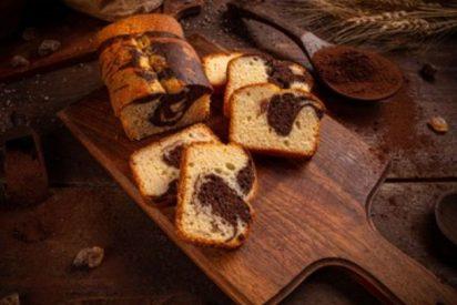 Bizcocho marmolado con cacao paso a paso