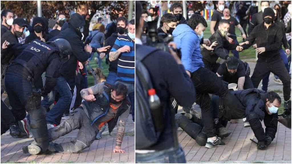 Filtran el vídeo: El podemita que pateó a un policía en Vallecas lloriquea en el calabozo