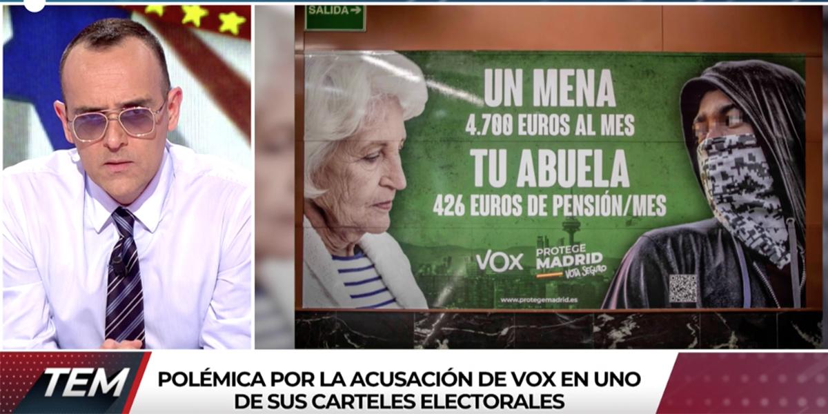 """Risto se vuelve loco en Cuatro para montar el circo contra VOX: """"Es de ser un hijo de la gran..."""""""