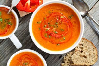 Sopa de pimientos rojos asados