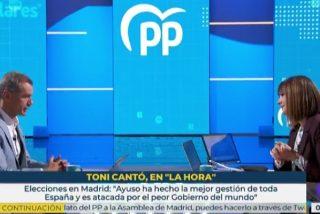 """Brutal mano de zascas de Toni Cantó a Mónica López: """"Los españoles perciben que TVE no es neutral"""""""