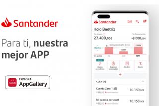 La app de Santander aterriza en AppGallery ampliando la categoría en la categoría de finanzas