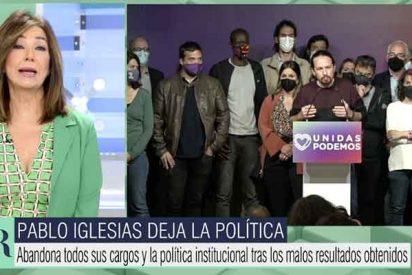 """Ana Rosa se burla de Iglesias: """"Ayer habló la mayoría: cierre la puerta giratoria al salir"""""""