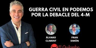 El Quilombo: Guerra civil en Podemos tras el batacazo del 4-M