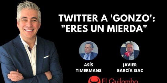 """El Quilombo: Las redes lapidan a 'Gonzo' por su jugarreta contra Ayuso: """"Eres un mierda"""""""