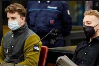 Dos norteamericanos, condenados a cadena perpetua por matar a un policía en Roma