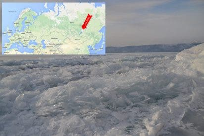 Así 'respira' el Lago Baikal bajo la inmensa capa de hielo