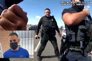El impactante momento en que un policía herido de bala se levanta y cose a tiros al narco