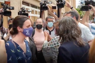 """¡Jarabe democrático a Irene Montero!: La reciben en Valencia a gritos de """"vividora"""" y """"fuera"""""""