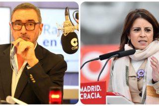 """Carlos Herrera: """"¿En qué ha quedado el PSOE para que la 'nini' de Adriana Lastra sea su referente?"""""""
