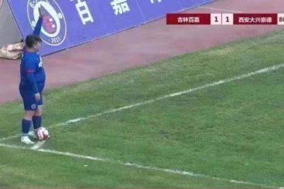 El dueño de un club chino obliga al entrenador a poner a su hijo: un jugador de 126 kilos nada talentoso