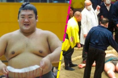 La muerte en combate, en vivo y directo, de un gigantesco luchador de Sumo