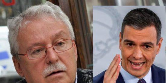 """Joaquín Leguina: """"El mayor responsable de haber llevado al socialismo al agujero eres tú, Pedro Sánchez"""""""