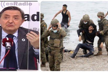 """Losantos: """"El Ejército está para defender España y, si fuera preciso, matar, no para poner tiritas y hacer de enfermera"""""""