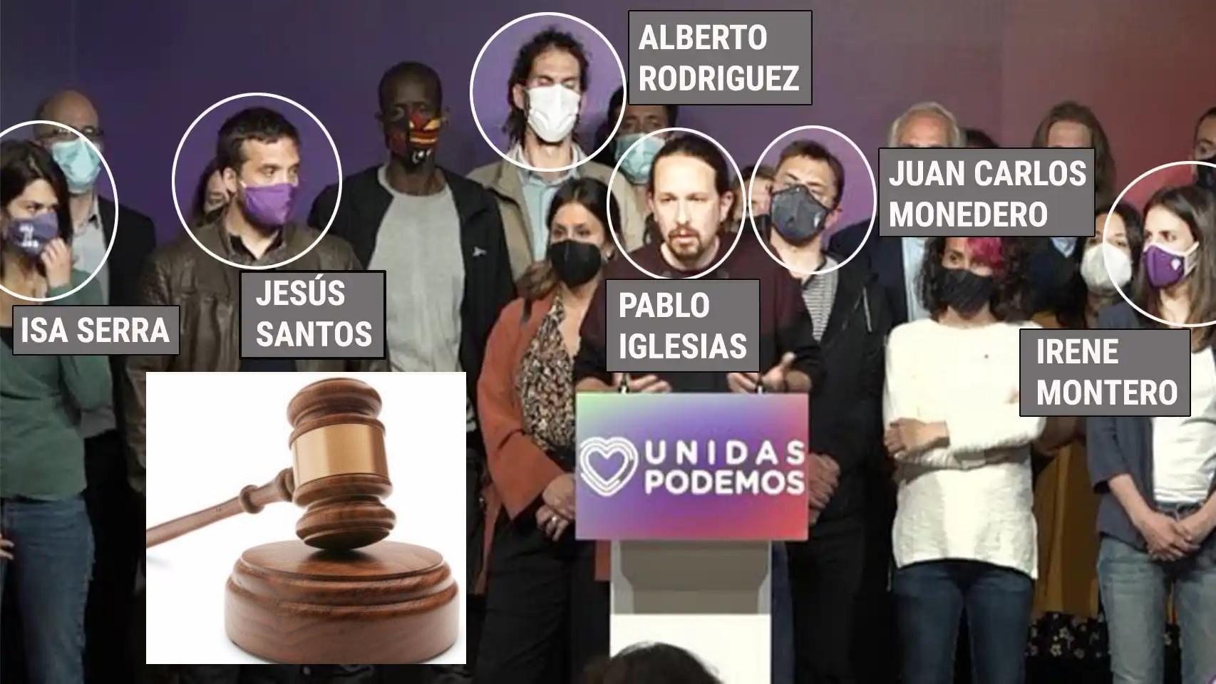 La 'foto-matón' de Podemos: Iglesias y otros facinerosos
