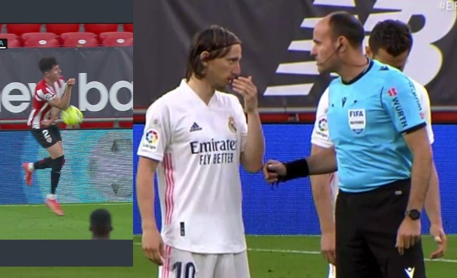 ¿Campaña contra el Real Madrid? Tras el robo con el Sevilla, llega una mano no pitada al Athletic