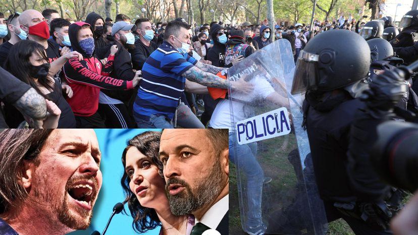 Abascal acusa a Iglesias de despachar a Vallecas 'matones a sueldo' para atacar a la Policía y a VOX